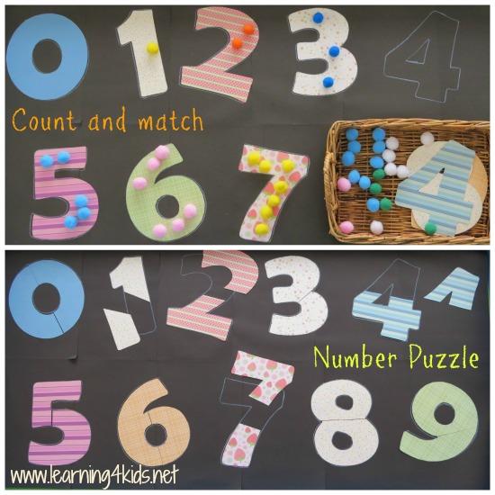 contar encajar números