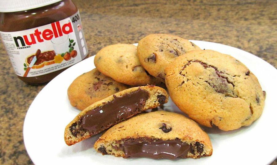 Galletas de chocolate con relleno de Nutella