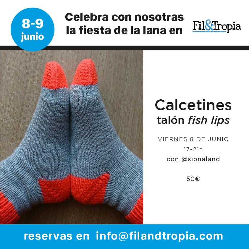 Cartel taller de calcetines