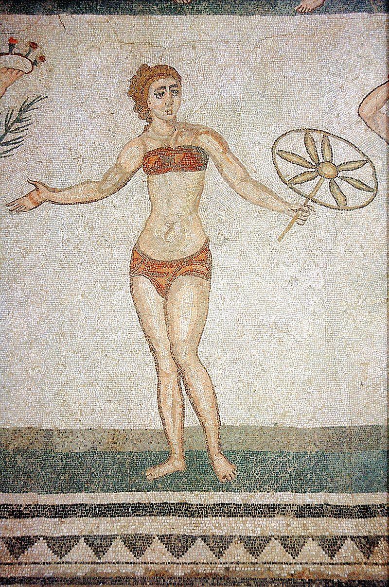 ilustración bikini romano