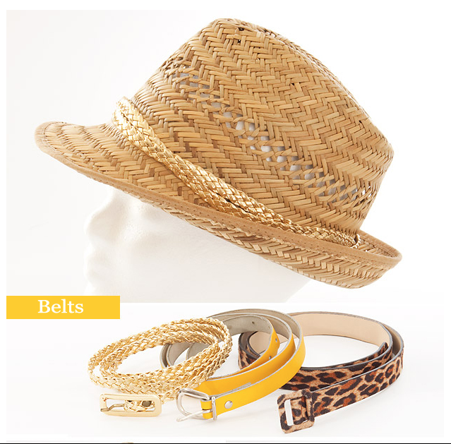 sombrero customizado con cinturones