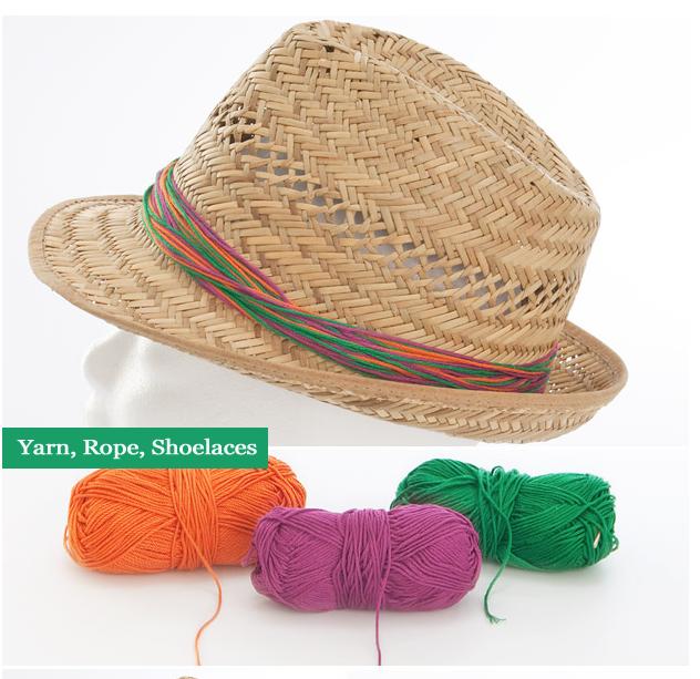 sombrero customizado con lana
