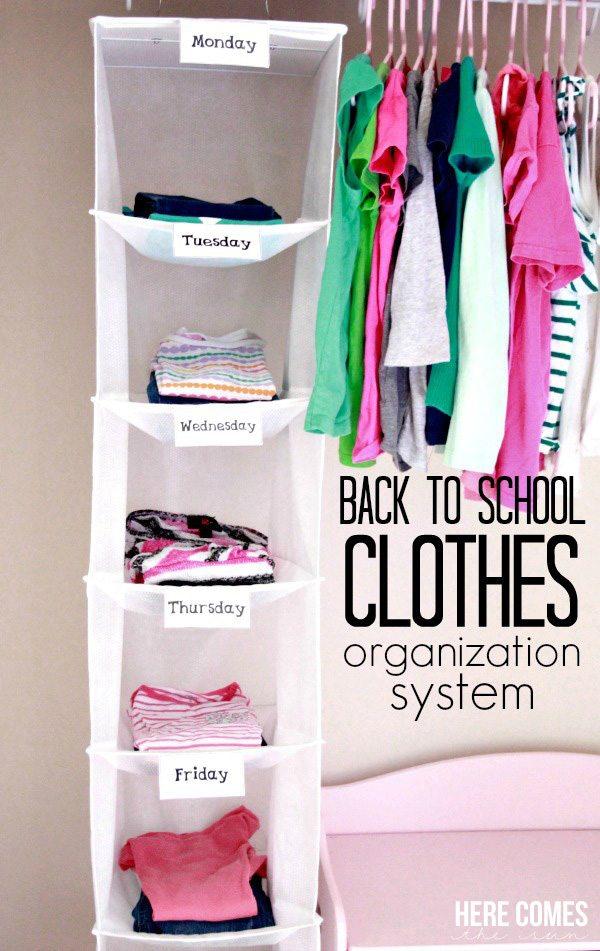 Organizar la ropa semanalmente