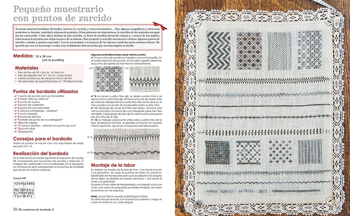 Pagina interior libro bordado