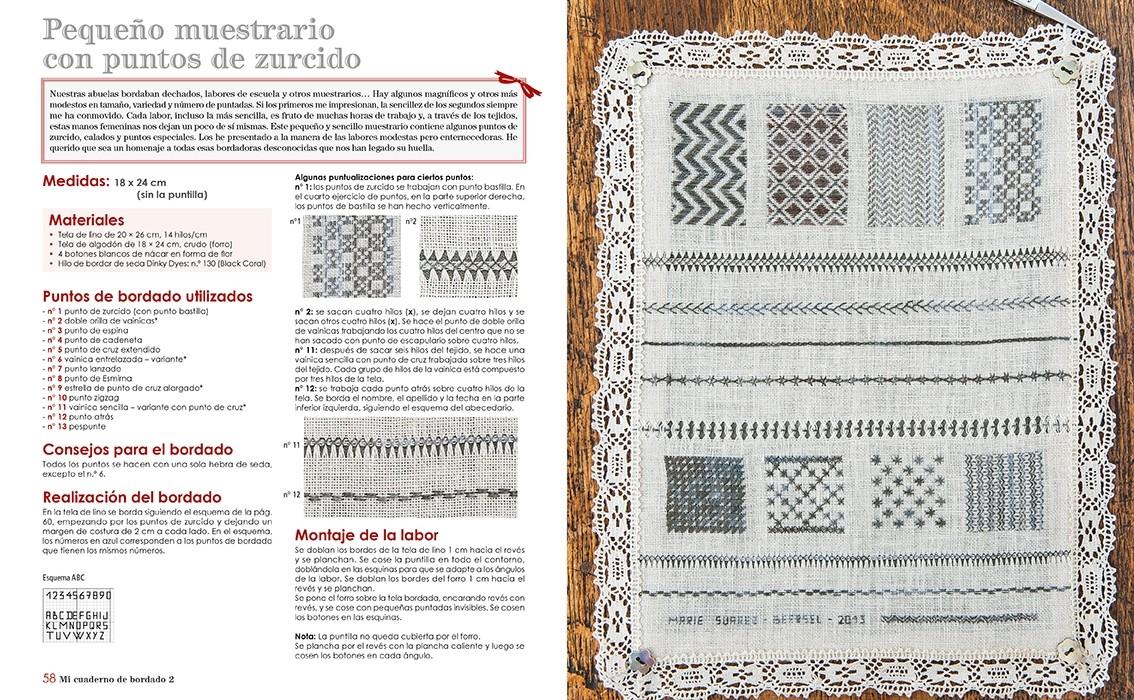 Pagina interior libro bordado