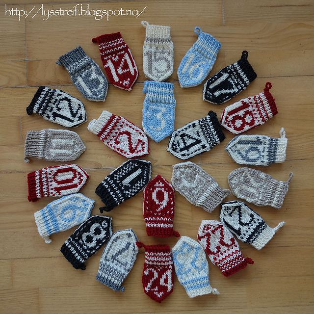 Design Your Own Advent Calendar Mittens by Selyn Birnbaum