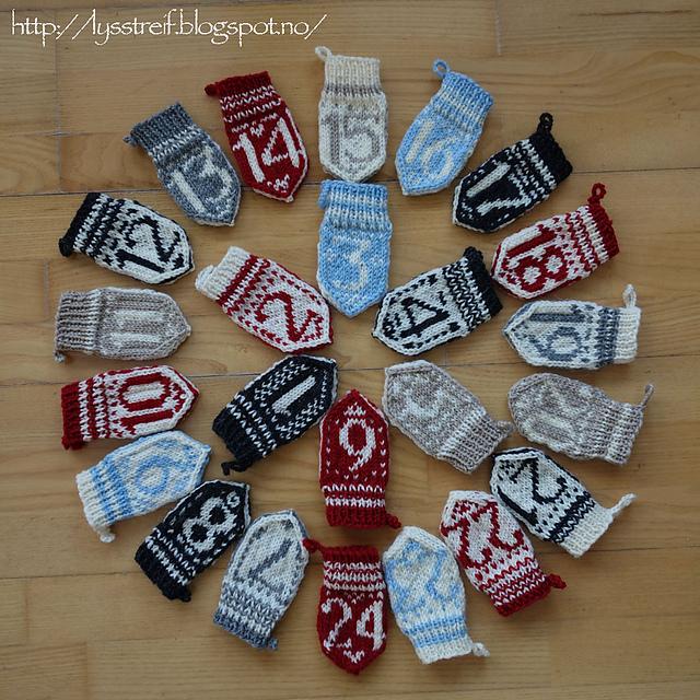 Design Your Own Advent Calendar Mittens by Selyn Birnbaum