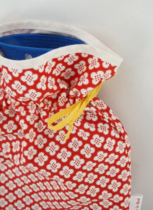 bolsa de agua con tela