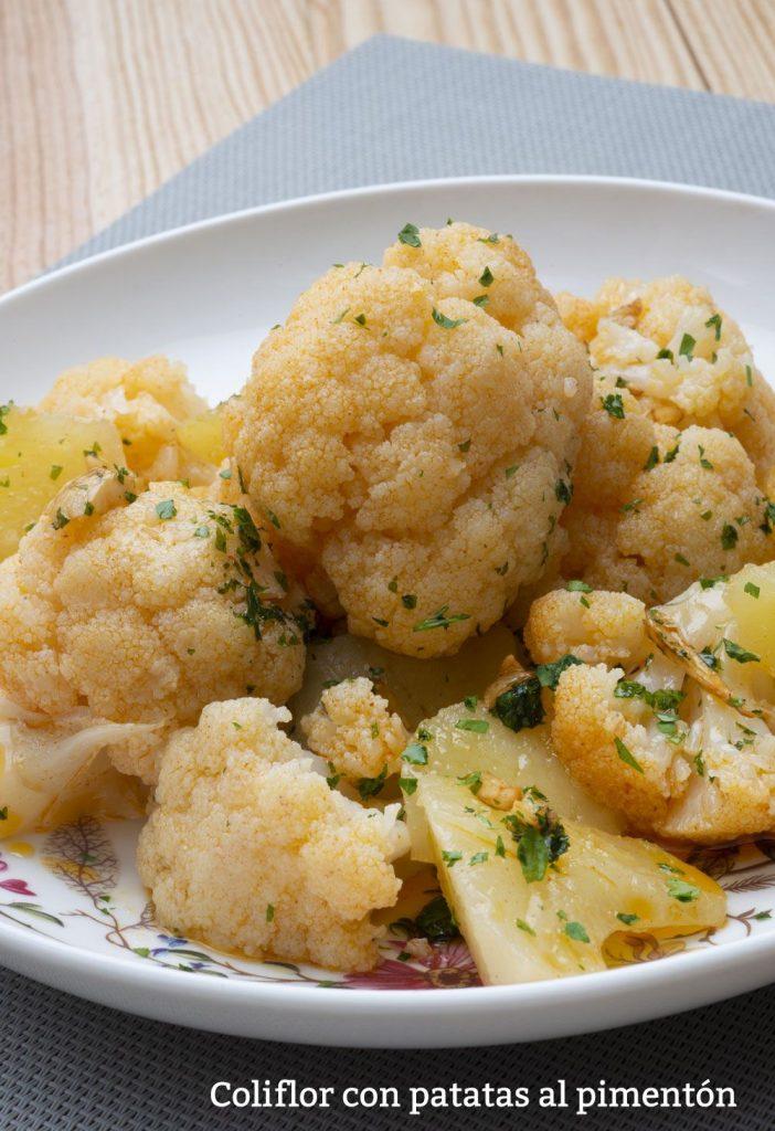 plato de coliflor con papas