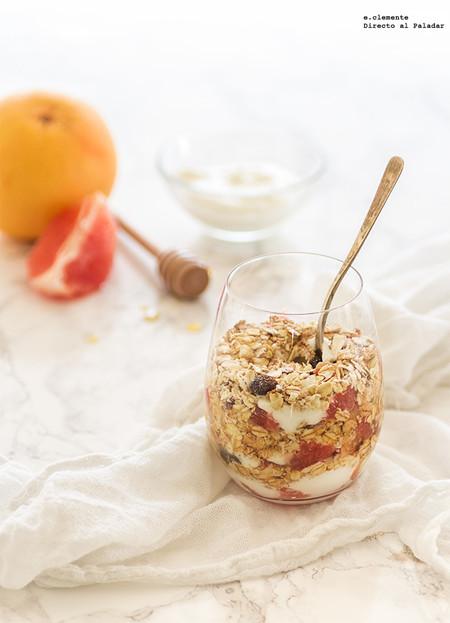crujiente pomelo y yogur