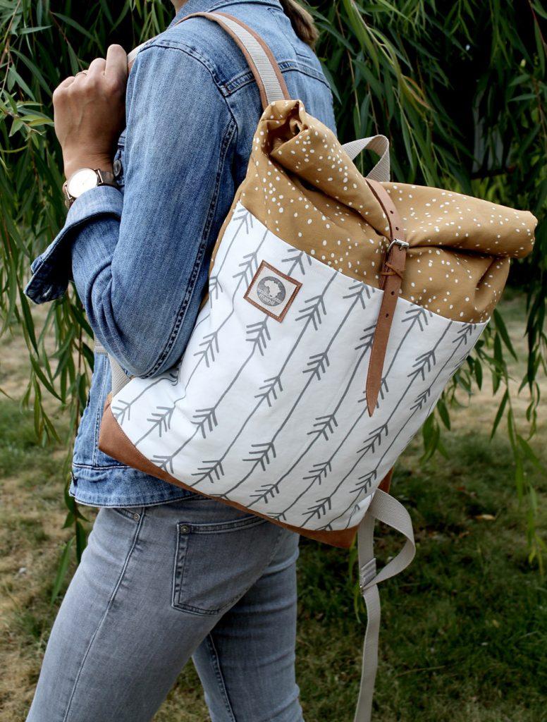 mochila de tela spoonflower