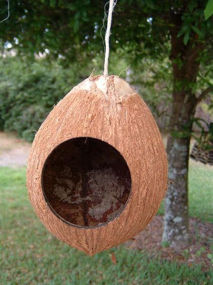 casitas recicladas para pájaros