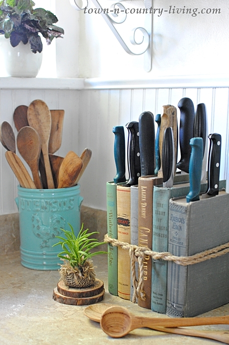 reciclar libros cuchillos manualidades