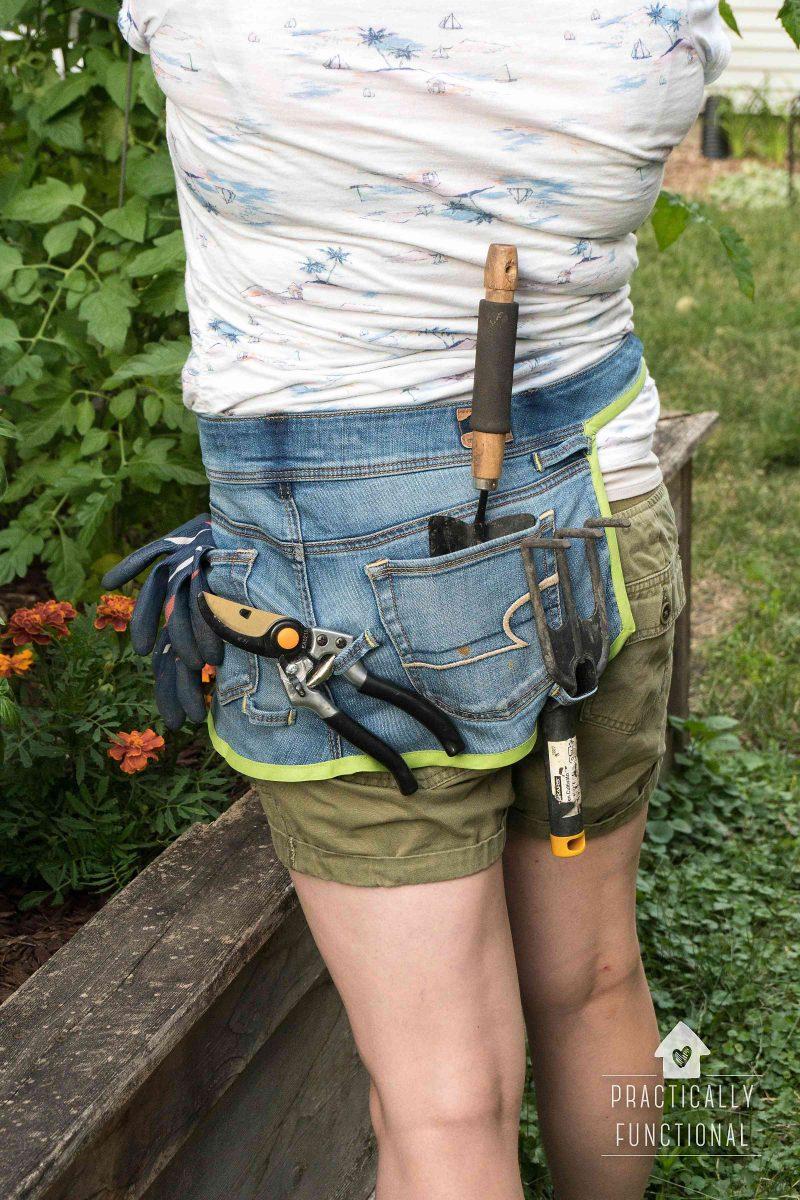 manualidades delantal jardineria