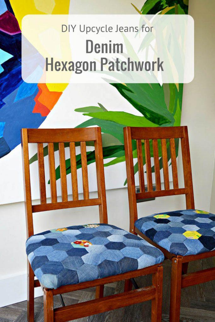 reciclar vaqueros para tapizar sillas