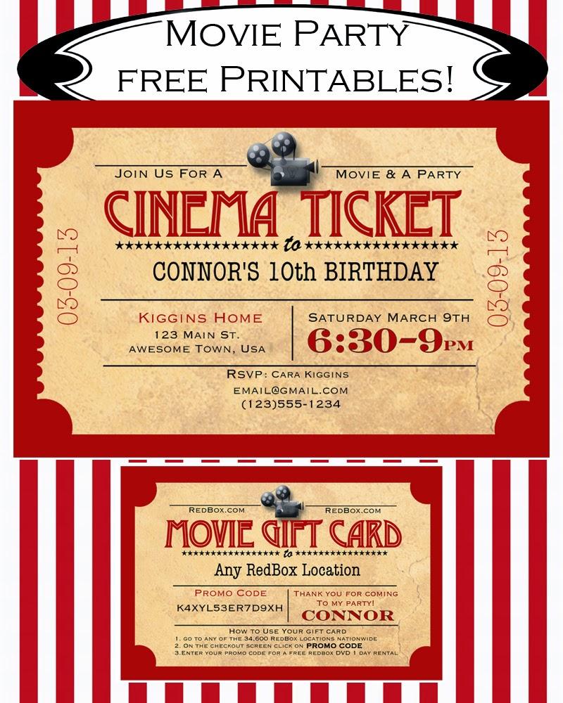 invitacion de cine