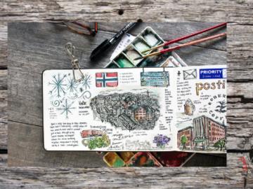 scrapbook cuaderno de verano