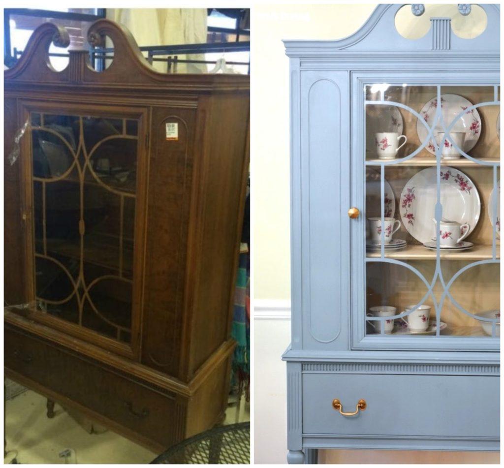 armario reformado antes y despues via thriftdiving