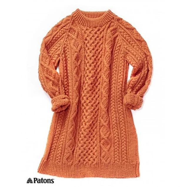 Honeycomb Aran Dress by Patons