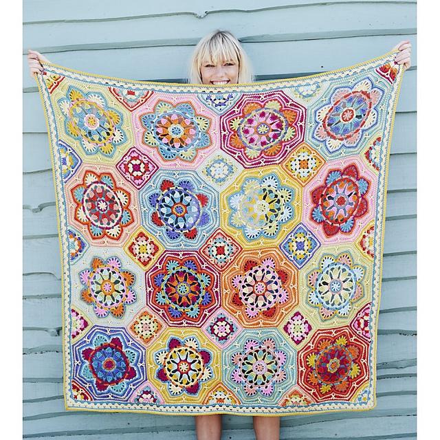 Persian Tile Blanket by Jane Crowfoot