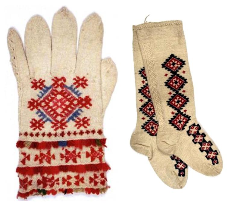 collage guantes y medias labores en red