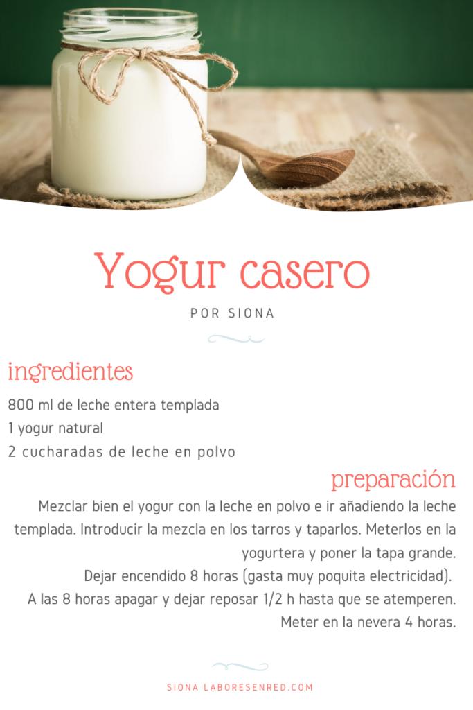 receta de cocina yogur casero