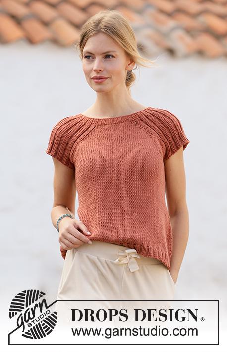 tejer camiseta de verano drops