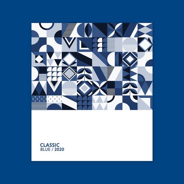 pantone poster geometrico freepik