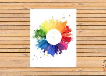 post ler ruedas de color