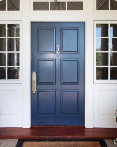 puerta azul houzz