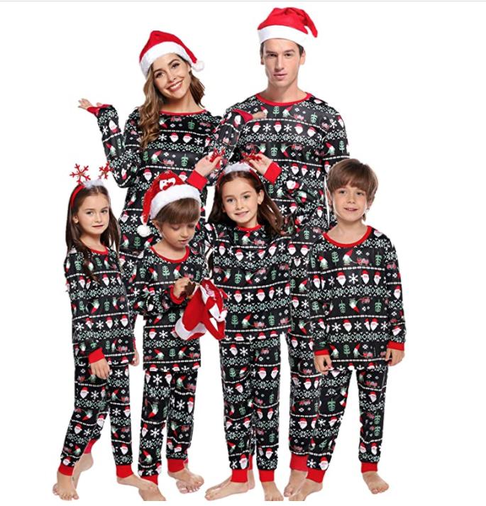 pijamas navidad en casa