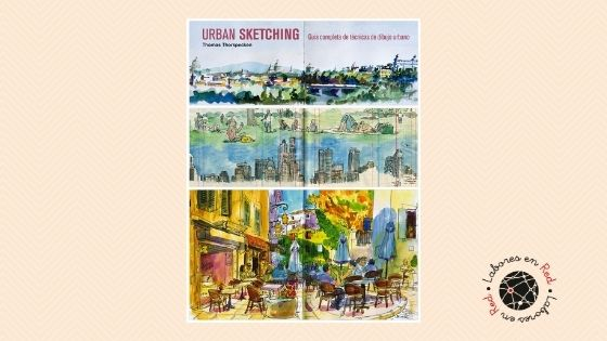 urban sketching banner labores en red