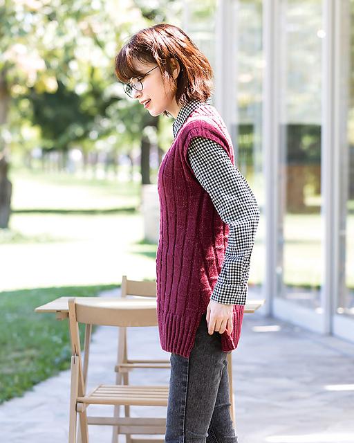 chaleco elena simple long vest pierrot