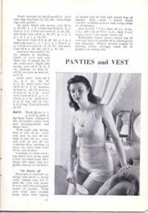 tejer ropa interior vintageknitting pattern archive