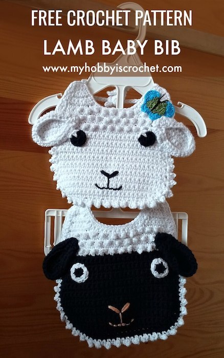 babero myhobby is crochet