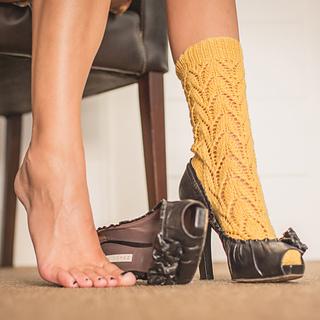 Patrones de punto calcetines lemon socks